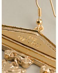 Malibu 1992 Metallic Column Detail Earrings
