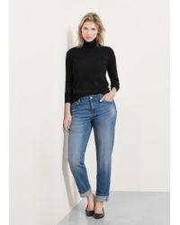 Violeta by Mango - Black Funnel Neck Sweater - Lyst