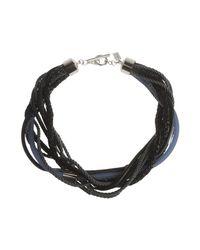 Armani - Black Pendant - Lyst
