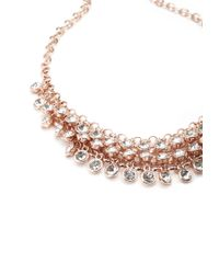 Forever 21 - Pink Bezel Set Rhinestone Necklace - Lyst