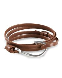 Miansai | Brown Large Hook Bracelet | Lyst