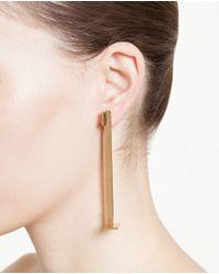 Loewe | Metallic Gold Plated Bar Earring | Lyst
