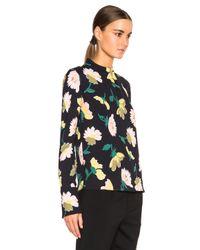 Marni   Black Floral Top   Lyst