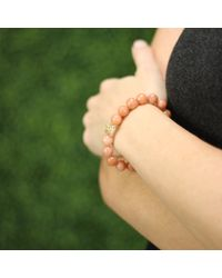 Sydney Evan | Orange Diamond Wire Ball Beaded Bracelet | Lyst