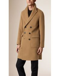Burberry Natural Oversize Double Cashmere Chesterfield for men