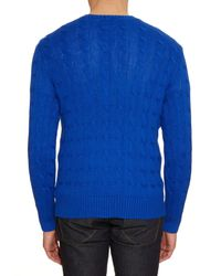 Polo Ralph Lauren | Blue Cable-knit Cotton Sweater for Men | Lyst
