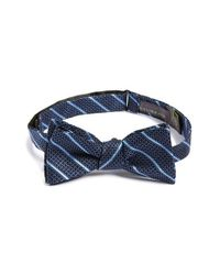 Calibrate | Blue 'modern Textures Three' Silk Bow Tie for Men | Lyst