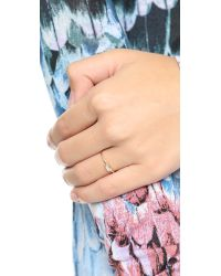 Shashi - Metallic Baguette Bar Ring - Lyst
