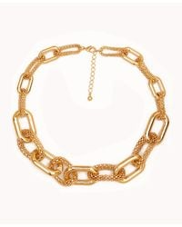 Forever 21 - Metallic Popcorn Chainlink Necklace - Lyst