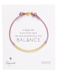Dogeared Purple Lilac Balance Tube Bracelet