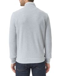 Lacoste - Gray High Collar Zip Sweater for Men - Lyst