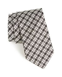 Todd Snyder Black Plaid Silk Tie for men