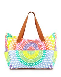 Mara Hoffman - Multicolor Printed Canvas/leather Weekend Bag - Lyst