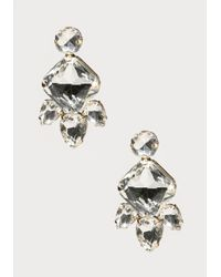 Bebe | Metallic Crystal Girandole Earrings | Lyst