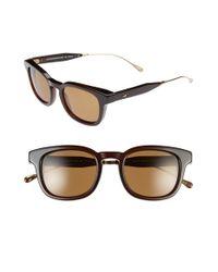 ebe62b7596 Lyst - Oliver Peoples  cabrillo  49mm Polarized Sunglasses - Dark ...