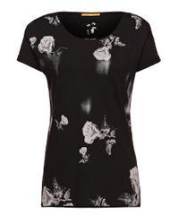BOSS Orange | Black T-shirt: 'talmy' In Cotton | Lyst