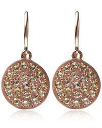 Brooke Gregson - Green Mini Rose Gold Mars Earrings - Lyst