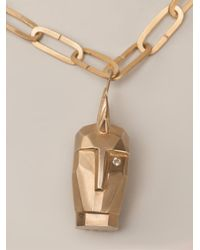 Kelly Wearstler Metallic 'Head Trip' Pendant Necklace