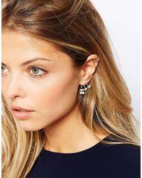 ASOS Metallic Cherry Faux Pearl Swing Earrings