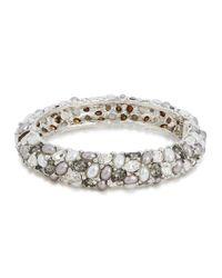 Kenneth Jay Lane - Metallic Crystal-embellished Bracelet - Lyst