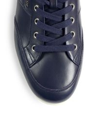 Bally - Blue Leather Sneakers for Men - Lyst