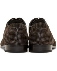 Jimmy Choo Black And Grey Houndstooth Penn Shoes for men