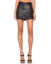 MLV - Black Justin Sequin Mini Skirt - Lyst
