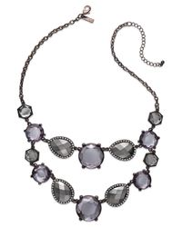 INC International Concepts - Brown Chocolate-tone Metallic Stone Two-row Bib Necklace - Lyst
