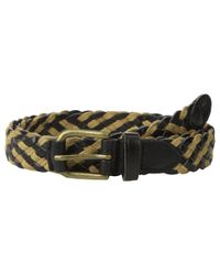 Scotch & Soda Black Braided Leather Cord Belt for men