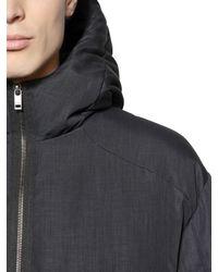 Z Zegna Blue Oversized Puffer Jacket for men