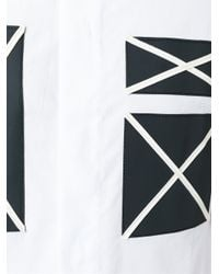 Cy Choi - White Contrast Patch Shirt for Men - Lyst