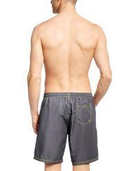BOSS Gray 'killifish' | Quick Dry Logo Board Shorts for men