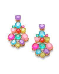 kate spade new york - Pink Multicolor Chandelier Earrings - Lyst