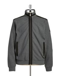 Bugatti | Gray Contrast Trim Zip Up for Men | Lyst
