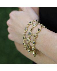 Todd Reed - Metallic Octahedron Diamond Chain Bracelet - Lyst