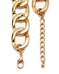 Forever 21 | Metallic Rhinestoned Chain Necklace | Lyst