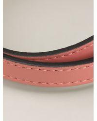 BVLGARI Pink Snakes Head Wrap Bracelet