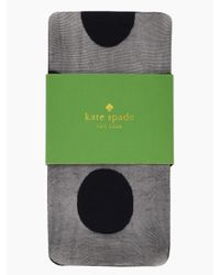 kate spade new york | Black Gigantic Swiss Dot Tight | Lyst
