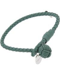 Bottega Veneta - Green Woven Bracelet for Men - Lyst