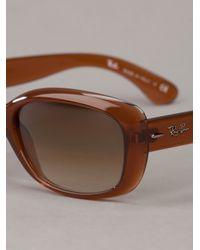 Ray-Ban | Orange Thick Framed Glasses | Lyst
