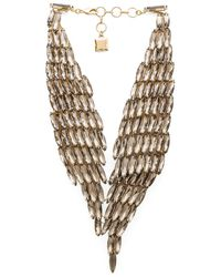 BCBGMAXAZRIA | Black Stone Metal Necklace | Lyst