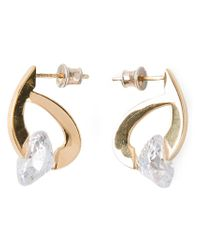 Uzerai Edits - Metallic 'futurism' Earrings - Lyst