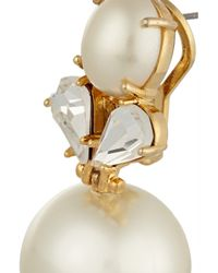 Lele Sadoughi White Gold-Plated Faux Pearl And Crystal Earrings