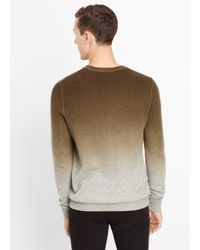 Vince | Gray Wool Cashmere Dégradé Crew Neck Sweater for Men | Lyst