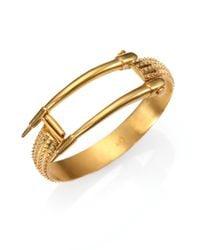 A Peace Treaty - Metallic Spiked Bangle Bracelet - Lyst