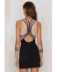 Nasty Gal | Black Fine Lines Mesh Bodysuit | Lyst
