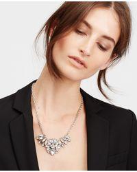 Ann Taylor | Metallic Crystal Brooch Necklace | Lyst