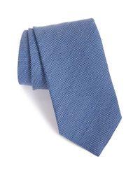Eton of Sweden Blue Woven Wool & Silk Tie for men