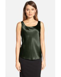 Lafayette 148 New York | Green Silk Charmeuse Tank | Lyst