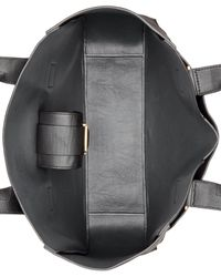 Calvin Klein | Black Smooth Leather Shopper | Lyst